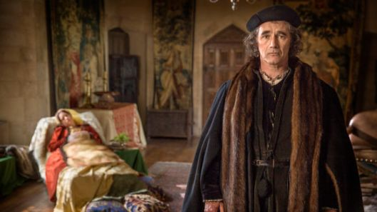 Picture Shows: Anne Boleyn (CLAIRE FOY), Thomas Cromwell (MARK RYLANCE) - (C) Company Productions Ltd - Photographer: Giles Keyte
